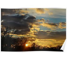 Dramatic Winter Sky Poster