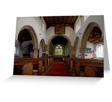 Inside All Saints Misterton Greeting Card