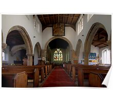 Inside All Saints Misterton Poster