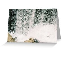 Crashing on the Rocks Greeting Card