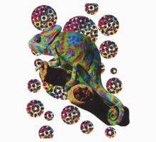 Psychedelic chameleon One Piece - Short Sleeve