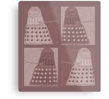 Daleks in negatives - brown Metal Print