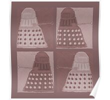 Daleks in negatives - brown Poster