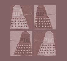 Daleks in negatives - brown by Lenka24