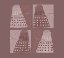Daleks in negatives - brown by Lenka24