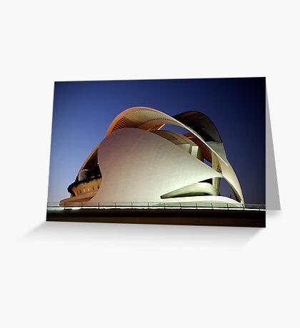 Palau De Les Arts, at blue hour - CAC Greeting Card
