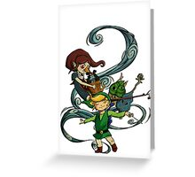 The Wind Waking Trio Greeting Card