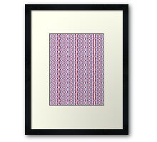 Pink, Blue and Green Abstract Design Pattern Framed Print