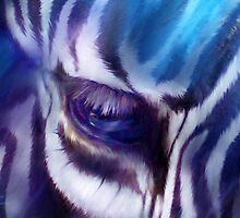 Zebra Blue by Carol  Cavalaris