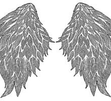 Bird Wings hand drawing by tuonigrace