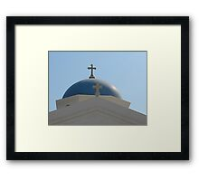Mykonos Dome Framed Print