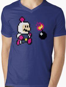 BomberMario Mens V-Neck T-Shirt