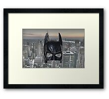 Batman Low Poly Framed Print
