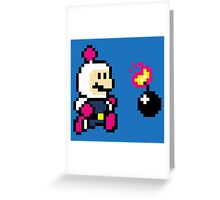 BomberMario Greeting Card