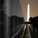 The Wall and Washington Monument by Gary Redlinski