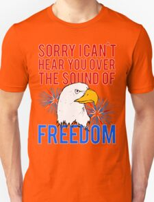My Freedom America Guns Bald Eagles Fireworks T-Shirt