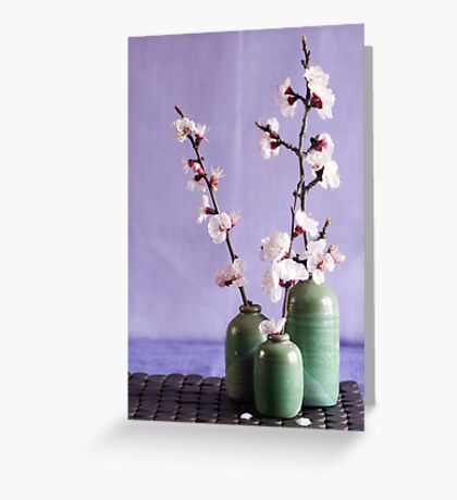 Blossoms and vases Greeting Card