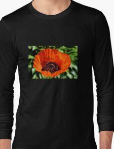 Orange Poppy Long Sleeve T-Shirt