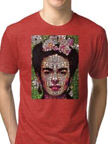 Frida Kahlo Art - Define Beauty Tri-blend T-Shirt