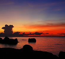 Koh Tao, Sunset by aaronsmith