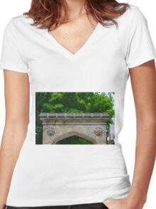 Arch Women's Fitted V-Neck T-Shirt