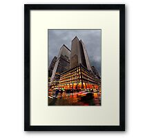 Wet and Cold Framed Print