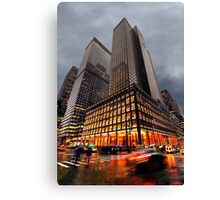 Wet and Cold Canvas Print