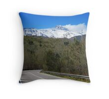 En Route to Mt Etna Throw Pillow
