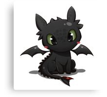 Toothless 2 Canvas Print