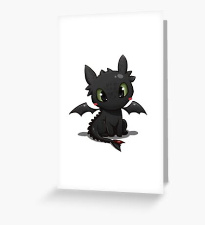 Toothless 2 Greeting Card