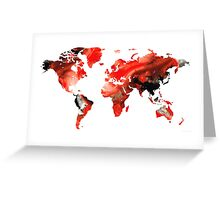 Map of The World 10 -Colorful Abstract Art Greeting Card