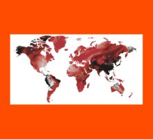 Map of The World 10 -Colorful Abstract Art Kids Clothes
