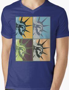 Liberty USA Mens V-Neck T-Shirt