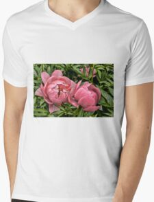 Peony - Experimental Garden, Ottawa, Ontario Mens V-Neck T-Shirt