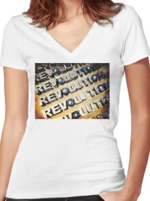 Patriotic American Revolution Women's Fitted V-Neck T-Shirt