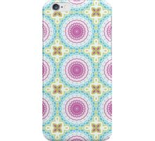 Pink, Blue and Green Abstract Medallion Design iPhone Case/Skin