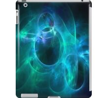 Aqua Blue and Green Circles 1 iPad Case/Skin