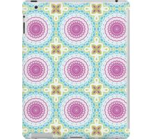 Pink, Blue and Green Abstract Medallion Design iPad Case/Skin
