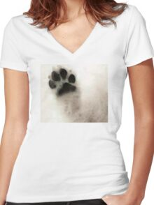 Dog Art - I Paw You Women's Fitted V-Neck T-Shirt