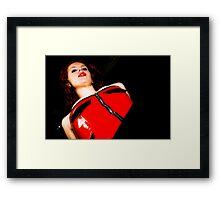 Makari In Red Framed Print