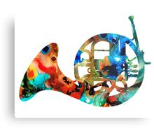 French Horn - Colorful Music by Sharon Cummings Metal Print