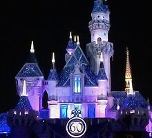 Disney Castle 60th Anniversary by doodlewizard
