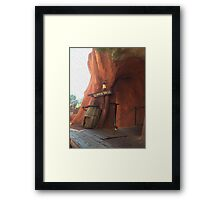 Splash Mountain Slippin' Falls Framed Print