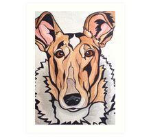 Dog Art #8: Cassidy the Smooth Collie Art Print