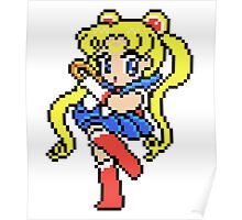 Sailor Moon - pixel art Poster