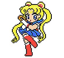 Sailor Moon - pixel art Photographic Print