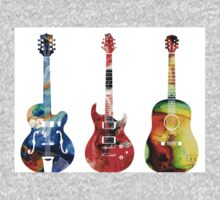 Guitar Threesome - Colorful Guitars By Sharon Cummings Kids Clothes