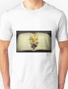 Frangipanis On A Book T-Shirt