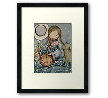 Moon Guitar Framed Print