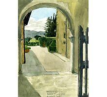 Archway to Private Garden, Villa Mandri Photographic Print